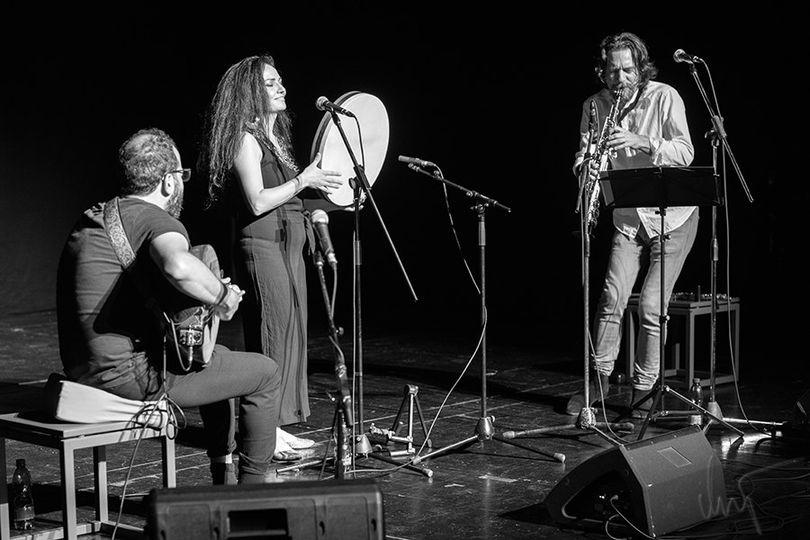 Songs We Still Remember Orwa Saleh, Basma Jabr & Vasko Atanasovski @ Lutkovno Gledališče Maribor, 30-Aug-2020 Photo: Matjaž Vrečko